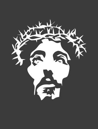 예수 얼굴 실루엣, 아트 디자인 일러스트
