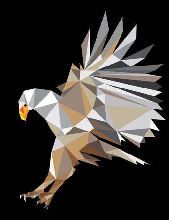 eagle flying: Eagle Flying, polygonal and geometric art design