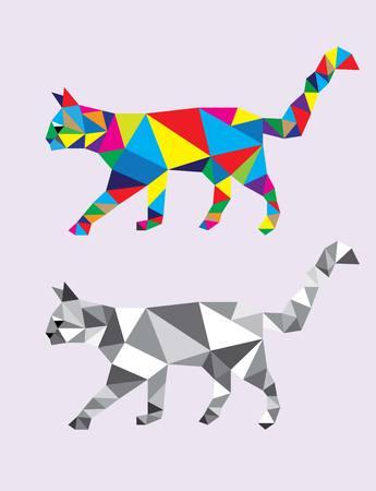 stealth: Cat Abstract Geometric, polygonal art design