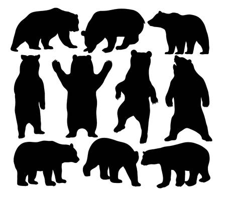 wildlife: Wildlife Bear Silhouette Animal, art vector design
