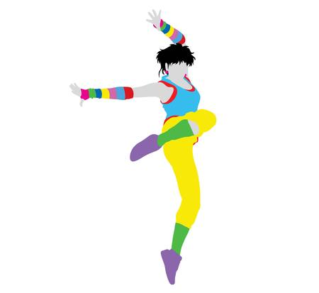 modern  dance: Activity Modern Dance Female Silhouette, art vector design