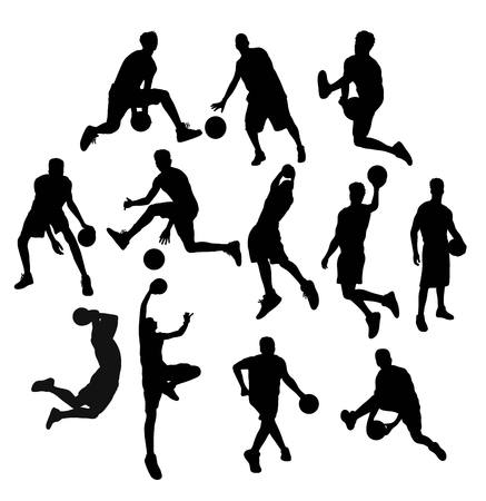 nba: Basketball  Silhouettes, art vector design Illustration