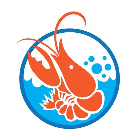 Lobster Sea Logo, illustration art vector design