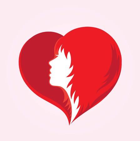 gent's: Beauty Love Hair Logo, illustration art vector design