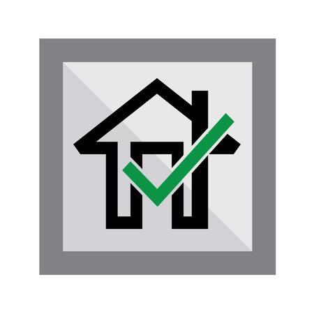 okay: Okay Home Icon, art vector design Illustration