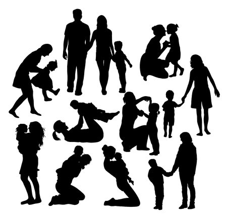 Mother Father And Child Activity, art vector design