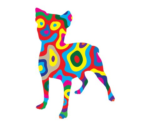 Rainbow Dog 2, art vector colorfully abstract design Illustration