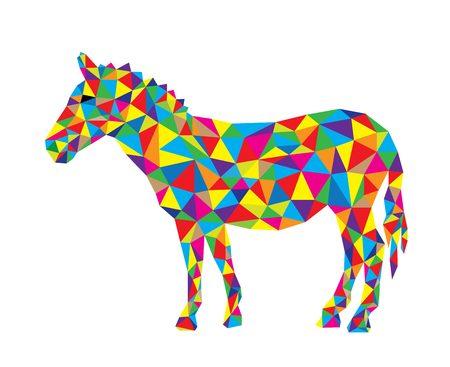 Geometrical Zebra, art vector polygonal design Illustration