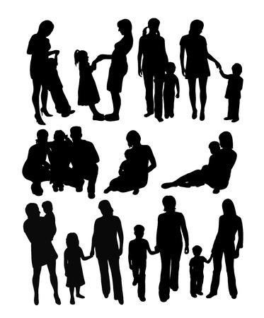 Mother and Son, art vector design.