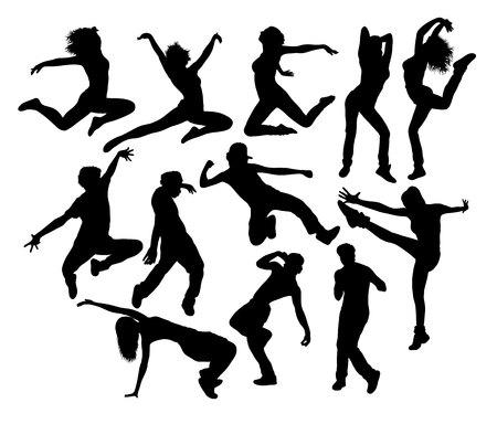entertainer: Happy  Hip Hop Expression Silhouettes, art design Illustration