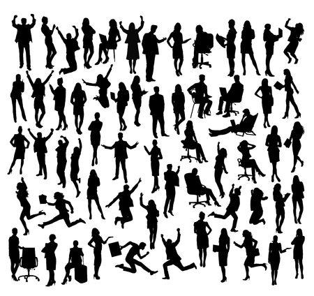 Business Activity Silhouettes, art vector design