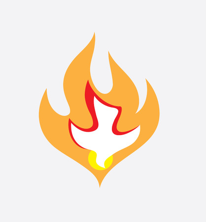 Holy spirit Fire, art vector design Vettoriali