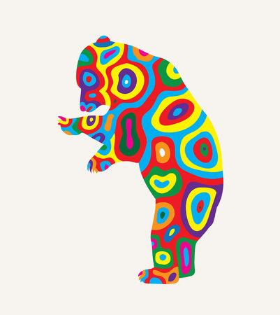 Colorfully Bear, art vector design