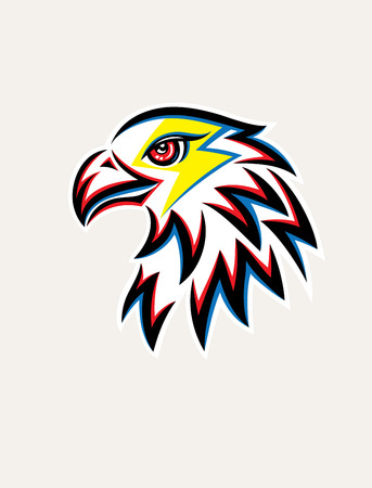 Eagle Thunder Logo, art vector design Illustration