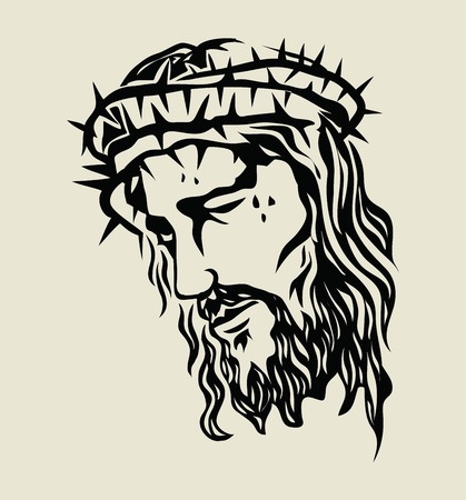 Jesus Christ Sketch, art vector design Stok Fotoğraf - 97692573