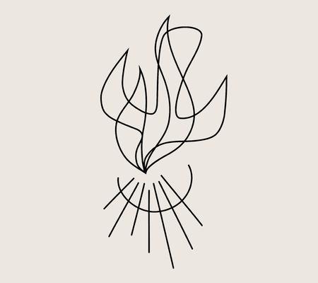 Holispirit Fire Line, art vector design illustration