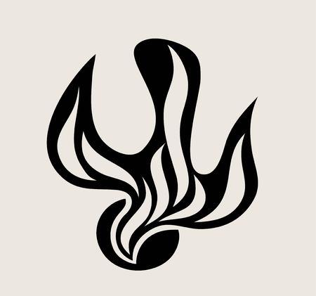 Holyspirit Fire Silhouette, art vector design illustration Illustration