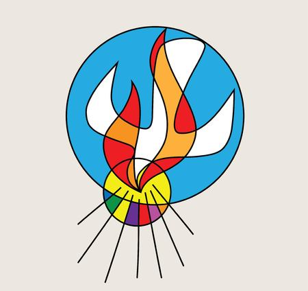 Holy spirit Logo, art vector design illustration 일러스트