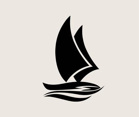 Silhouette de navire, conception de vecteur d'art Vecteurs