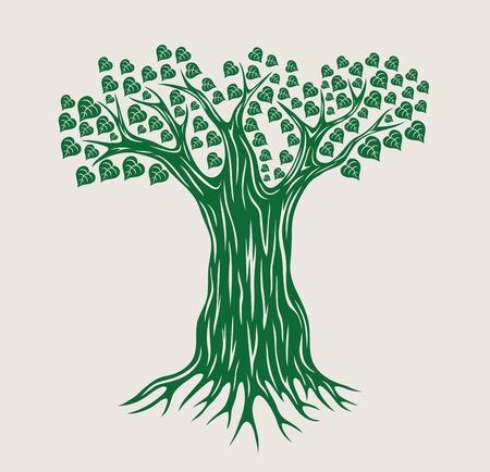 Vector Tree Silhouette, art vector design Vettoriali