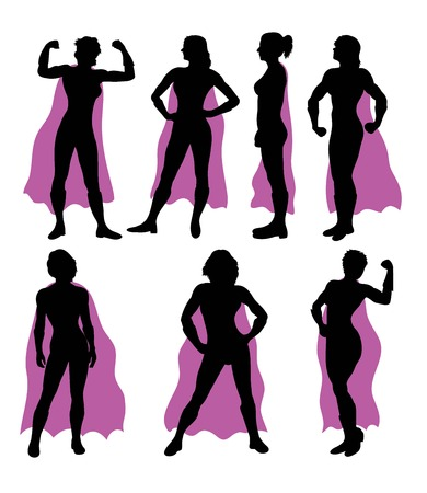 Super Lady Silhouettes, art vector design