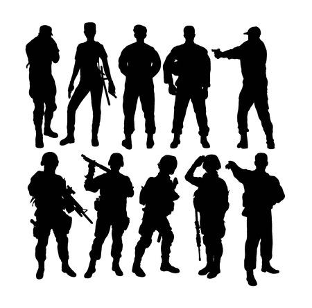 Soldiers Silhouette, art vector design