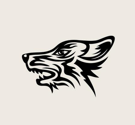 Wolf Face Logo, art vector design