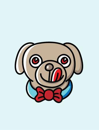 Cute Dog Logo, art vector design Illustration