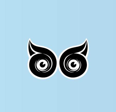 Eye Owl Logo, art vector design
