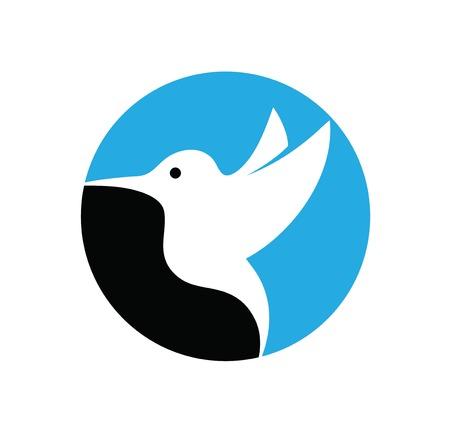 Humming Bird Logo, art vector logo design