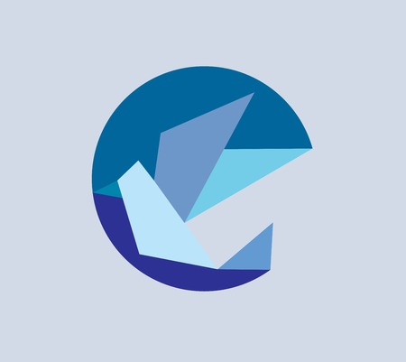 Abstract Geometric Bird Logo, art vector design