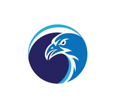 Eagle Face Circle Logo, art vector design