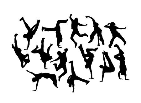 Dancer Silhouettes, art vector design Banque d'images - 114701573