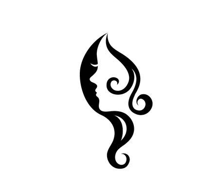 Beauty Face Logo, art vector design