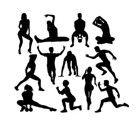 Sport Activity Silhouettes, art vector design Banque d'images - 117470611