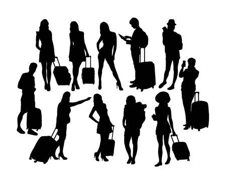 Tourist Activity Silhouettes, art vector design