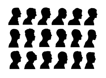 Anonymous Avatar Silhouettes, art vector design Ilustrace