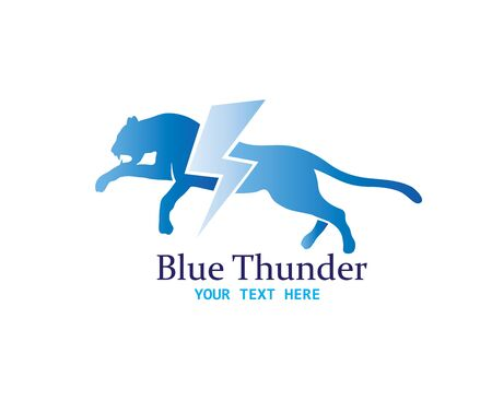 Cheetah Thunder Logo, art vector design