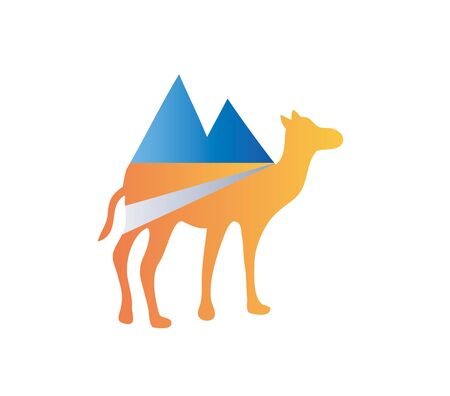 Camel Adventure Logo, art vector design Archivio Fotografico - 131445859