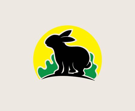 Rabbit Nature Logo, art vector design Archivio Fotografico - 131445861