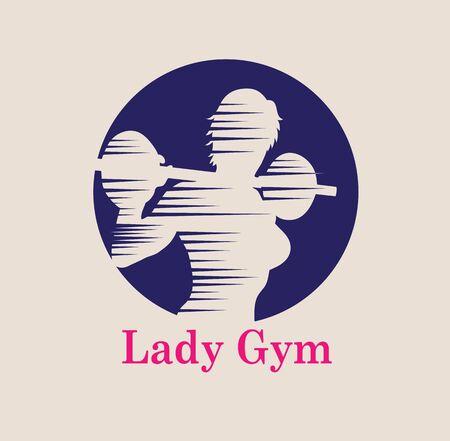 Lady Gym Logo, art vector design Archivio Fotografico - 131445864