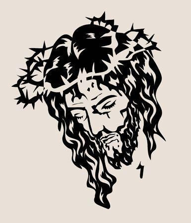 Jesus Face, art vector design