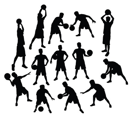 Basketball Activity Silhouettes, art vector design