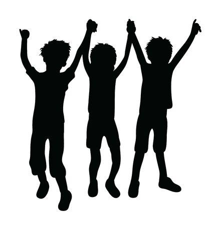 Kid Activity, art vector silhouette design Archivio Fotografico - 131446476