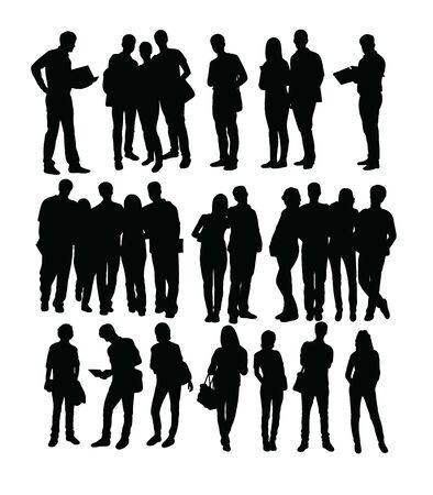 Student Activity Silhouettes, art vector design Archivio Fotografico - 131446491