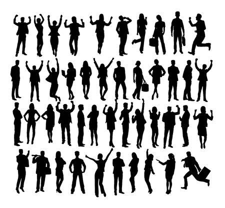 People Silhouettes, art vector design Archivio Fotografico - 131446901