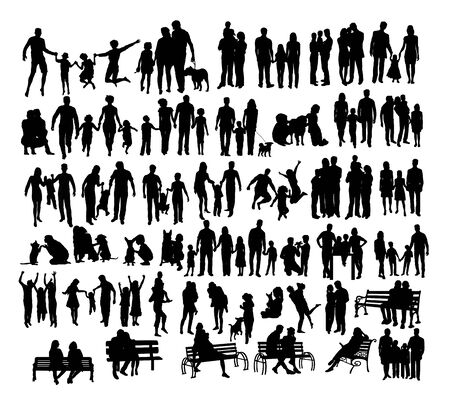 People Silhouettes, art vector design Archivio Fotografico - 131446895