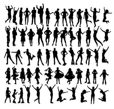 People Silhouettes, art vector design Archivio Fotografico - 131447328