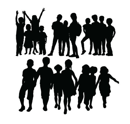 Kid Activity, art vector silhouettes design