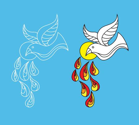 Holyspirit Icon, art vector design